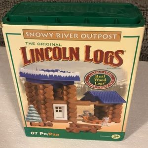 Lincoln Logs Snowy River Outpost. All there.